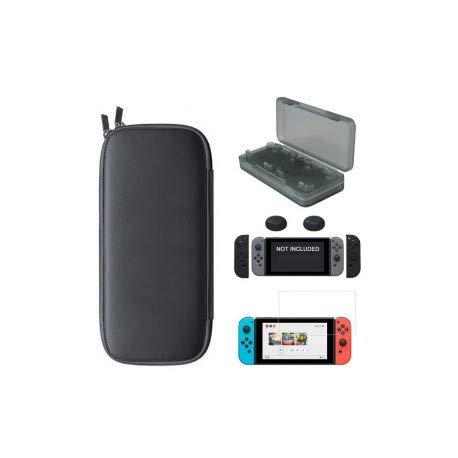 Third Party - Housse protection 5 en 1 Switch + Verre trempé + protections manettes + boite jeux - 3700936108524 - Housse De Protection