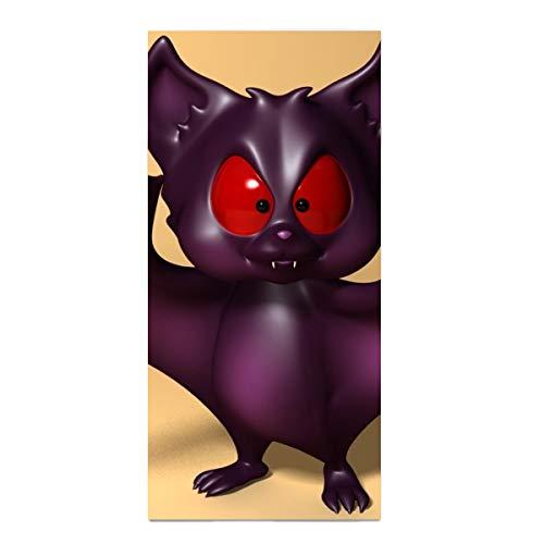 Custom Fast Drying Hair Towel Animal CGI Bat Cartoon Halloween Washcloths for Bathroom Highly Absorbent Face Towels]()