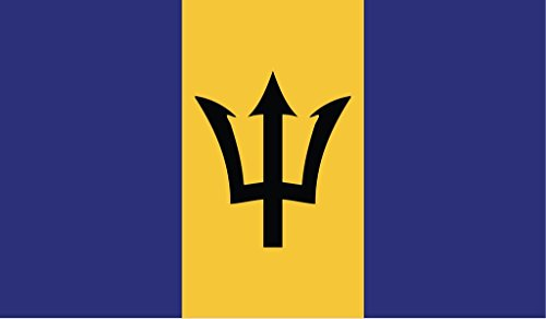 JMM Industries Barbados Flag Vinyl Decal Sticker Barbadian Bajan Car Window Bumper 2-Pack 5-Inches by 3-Inches Premium Quality UV-Resistant Laminate ()