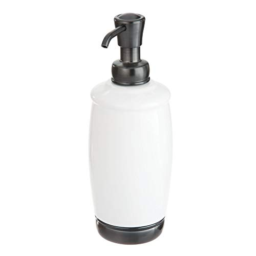 - iDesign York Liquid Soap Pump, Brushed Black Nickel and Matte White