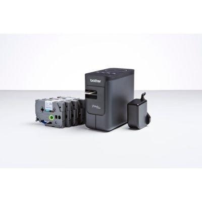 Brother PTP750WSPZG1 Etikettiermaschine P-Touch, inklusive 4 Schriftbänder