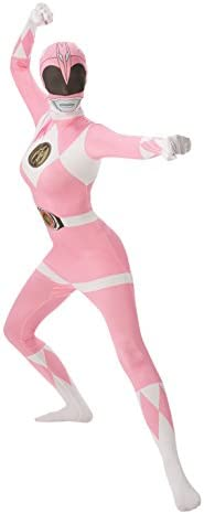 Rubies s Oficial Adultos de Color Rosa Ranger 2 nd Skin Disfraz ...