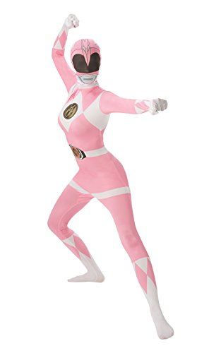 Rubie's Official Pink Ranger 2nd Skin, Adult Costume - Medium