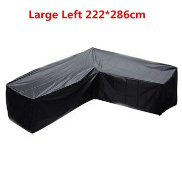 L Shape Polyester Furniture Waterproof Cover Outdoor Garden Sofa Skin Dust Rain UV Protector - Power Tool Accessories Other Accessories - (#3) - 1 x L-Shape Furniture Coverr -