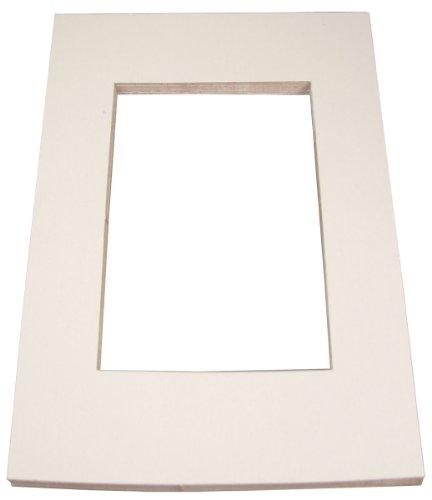 INOVART Picture-It White Pre-Cut Art/Presentation Mat Frames - Fits Artwork 12