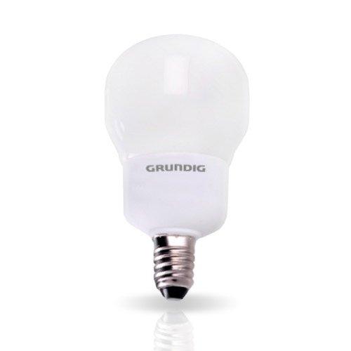 attacco E14 Grundig Lampadina a Risparmio Energetico Forma Compact 5W corrispondenti a 25W luce calda