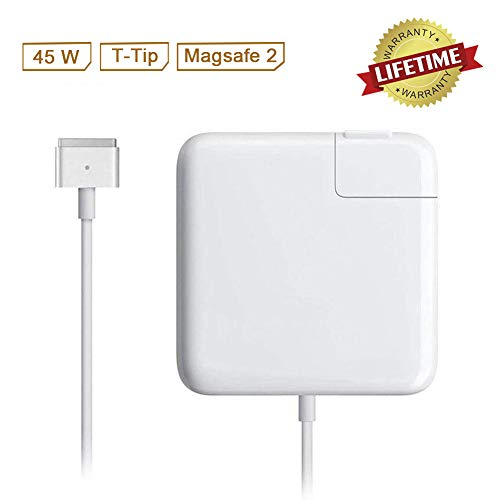 Mac Book Air Charger, 45w T-Type Magsafe2 Replacement Power Adapter for MacBook Air 11-inch & 13 inch (for Mac Book Air Released After Mid 2012)
