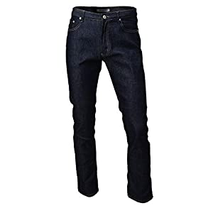 Hipsteration Men's Casual Straight Fit Raw Denim Jeans