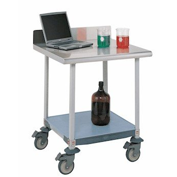 Metro Mobile Lab Table - Metro Carts Mobile Lab Worktable with Microban Surface and Under Shelf, 30