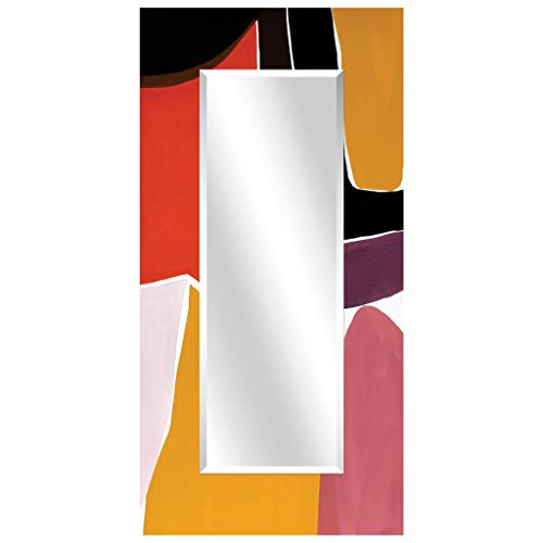 - Empire Art Direct Finale I Rectangular Beveled Mirror on Free Floating Reverse Printed Tempered Art Glass 72