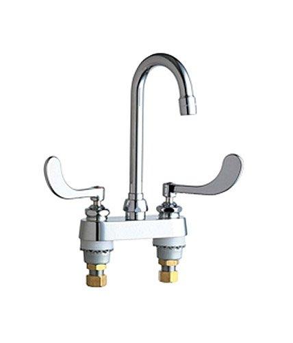 Chicago Faucets 895-317CP Deck Mounted Gooseneck Faucet, Chrome ()