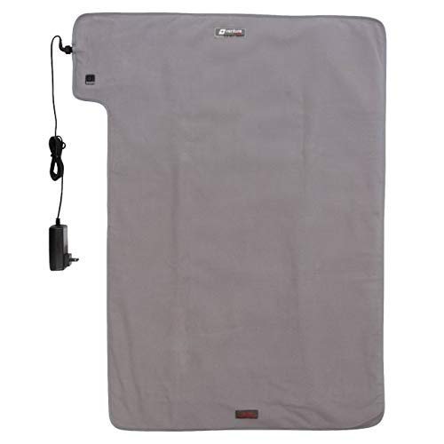 $139.95 Heating pad 36″ x 24″ XXL Venture Heat Far Infrared Heating Pad for Pain Relief Therapy – Circulation and Healing, FDA Cleared, 100-240v Travel Electric Heated, 60 Min Auto Shut Off (Gray) 2019