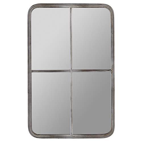 Stone & Beam Vintage Window Mirror -28 Inch, Antique Grey -