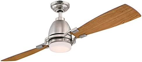 Westinghouse Lighting 7217700 Longo 54-Inch Brushed Nickel Indoor Ceiling