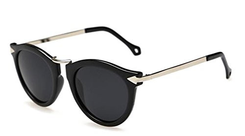 GAMT Arrow Polarized Sunglasses Fashion Models Influx of People Sunglasses Woman Bright black frame silver - Wearing Person Sunglasses