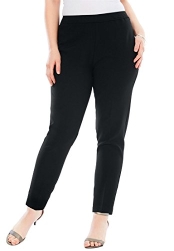 - Roamans Women's Plus Size Bend Over Classic Pant