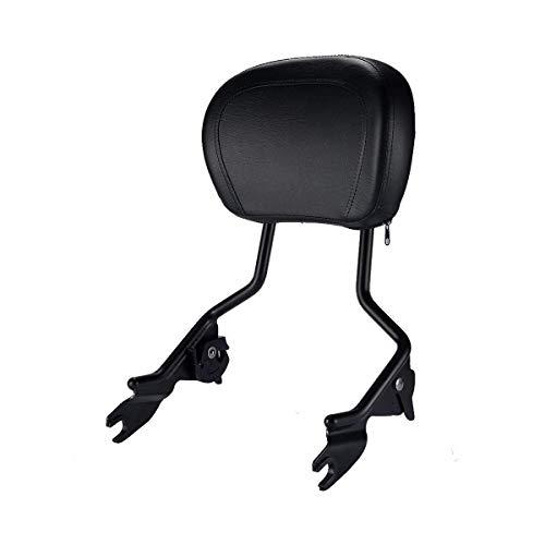 XMT-MOTO Detachables Sissy Bar Upright w/Backrest pad fits for Harley Davidson Touring 2009-2019,Matte Black ()