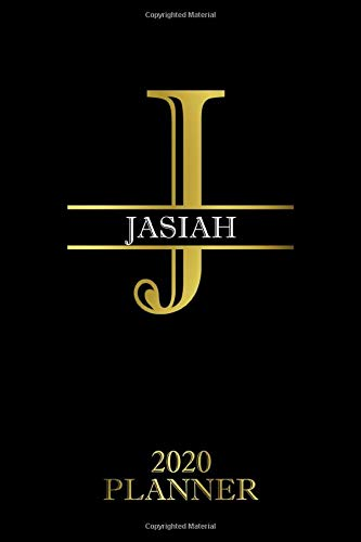 Jasiah: 2020 Planner - Personalised Name Organizer - Plan Days, Set Goals & Get Stuff Done (6x9, 175 Pages) (Best Planners For Gift) Planners For Everyone