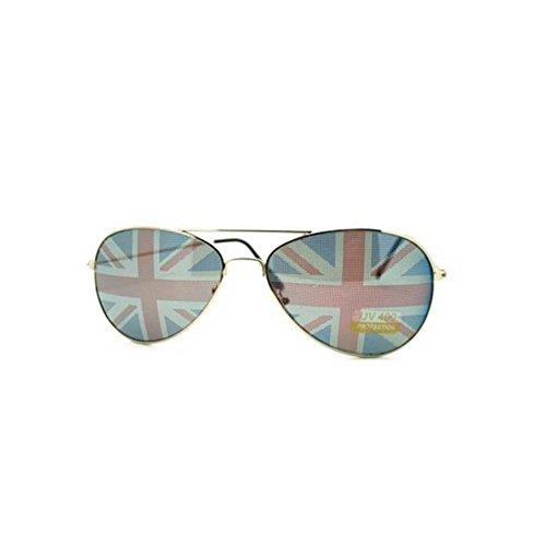 British Flag Aviator Sunglasses With Black - Sunglasses British