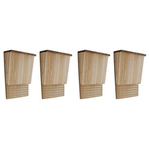 Festnight Outdoor Bat Houses Wood Set of 4