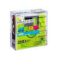 Imation 3.5 DS-HD IBM PC Formatted (Neon Colors, 10-Pack) (Discontinued by Manufacturer)