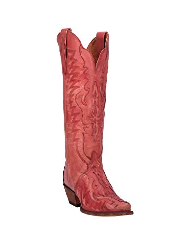 Dan Post Western Boots Womens Hallie Snip Toe 8.5 M Red DP4025