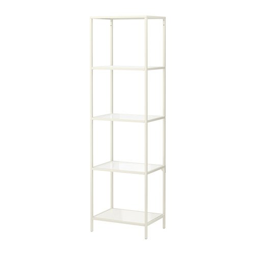 ikea vittsj shelving unit glass white. Black Bedroom Furniture Sets. Home Design Ideas