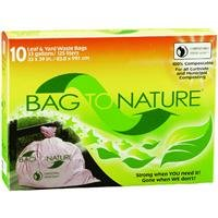 Indaco Manufacturing 33x39 'bag-to-nature' Compostable And Biodegradable Lawn Bag 10 count