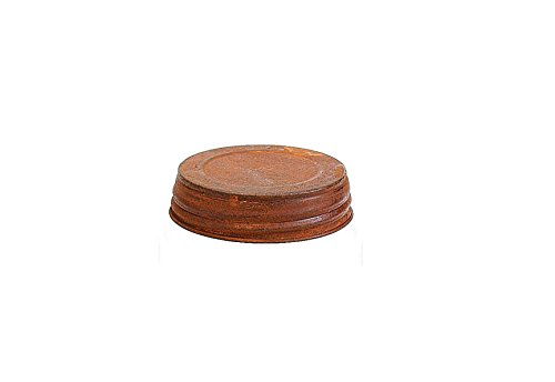 Rusty Mason Jar Lid - 3.5in. - Set Of 3