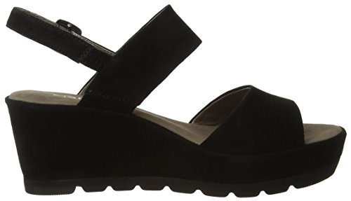 GaborStudy - Sandalias de Cuña Mujer, Negro - Schwarz (17 schwarz)