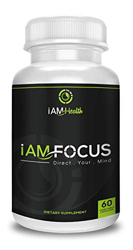 Doctor Formulated, Premium Nootropic Caffeine, L-Theanine & B-Vitamin Cognitive Stack for Smooth & Balanced, Focus, Energy, Memory - IAM Focus