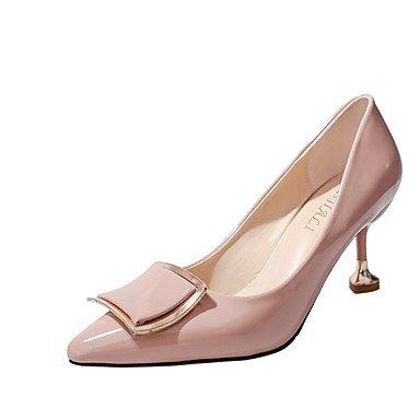 Otoño Tacón Lvyuan Fiesta Rosa Blushing Vestido Zapatos Y ggx Confort Noche Stilettonegro Paseo Pink Formales Beige Pu Mujer Tacones qOf1Hr0q