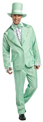 Rasta Imposta Mens Retro Green 70S Funky Tuxedo Pastel Theme Party Costume, Large (42-44) (70s Tv Characters)