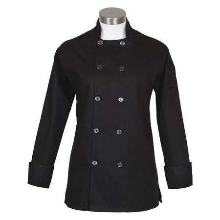 - Fame Women's Long Sleeve Chef Coat (small, Black)