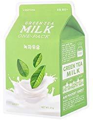 A'PIEU Green Tea Milk Sheet Mask (6pc)
