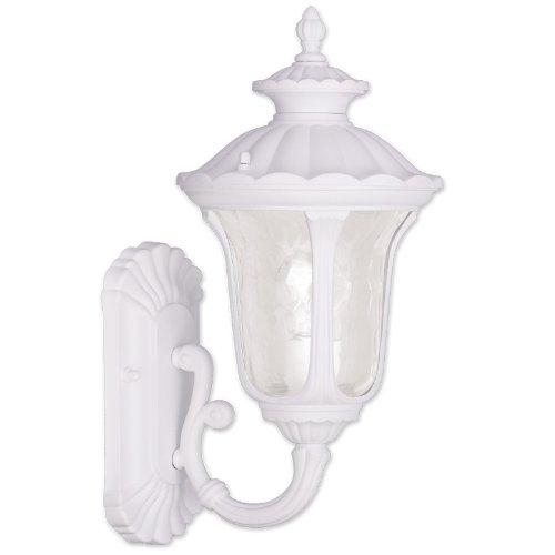 Livex Lighting 7850-03 Oxford 1 Light Outdoor Wall Lantern, White