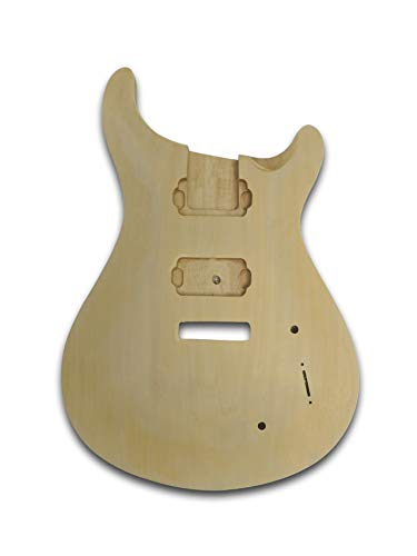 (Unfinished Guitar Body For PRS Electric Guitar, Bass Wood Made Body, Curve-Shaped Top)