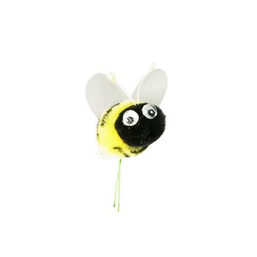 Amazon Pompom Bumble Bees Blackyellow W Googly Eyes Craft Spring Easter Floral Picks 6 Pkg