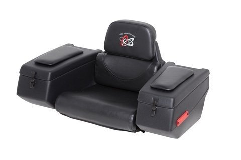 WES Industries AR-38 Rear Cargo Box Seat with Padded Arm Rest for Single Seat ATV 123-0020 (Honda Atv Backrest)