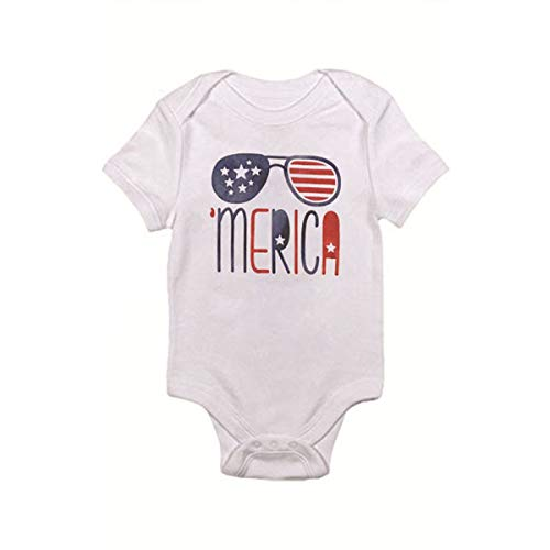 2019 Hot! Baby Jumpsuit,Independence Day Infant Outfits Merica Letters Star Striped Printed Romper Playsuit