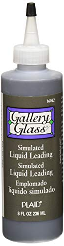 (Gallery Glass Liquid Lead, 8 ounce, Black 16082 - Pack of 4)