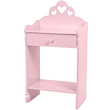 girls pink bedroom furniture. girls pink bedside table drawer shelf princess wooden bedroom furniture new