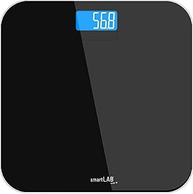 smartLAB scale W Bluetooth ANT + balanza de baño de vidrio | Báscula inteligente para iOS, Android, Garmin Connect, S Health App | Báscula digital con ...