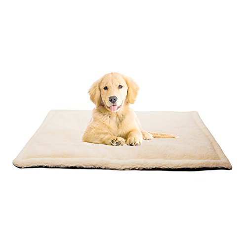 36x24 inch Dog Kennel Crate Mat Pad and Pet Bed for Medium Dogs and Cats, Machine Washable, Water-Resistent, Indoor or ()