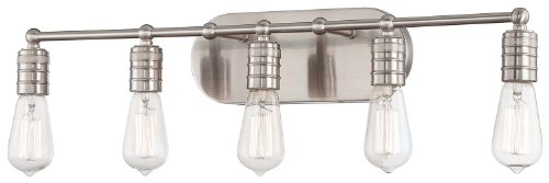 Muse Collection 27 1/2''W Brushed Nickel 5-Light Bath Light by Minka Lavery