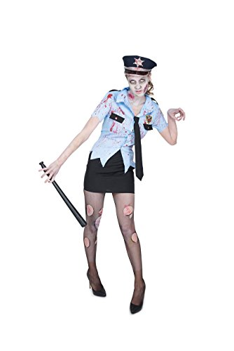 Karnival Women's Zombie Cop Costume Set - Perfect for Halloween, Costume Party Accessory. Trick or Treating (XS) - Cute Cop Halloween Costumes