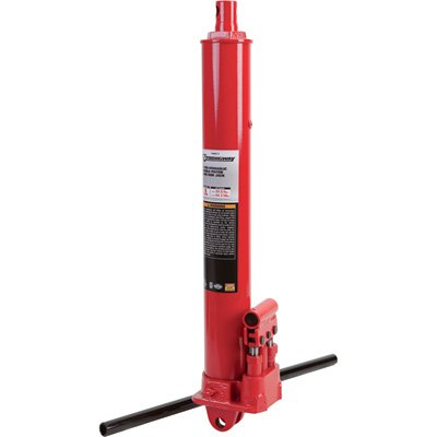 Strongway Hydraulic Long Ram Jack - 8-Ton Capacity, Double Piston, Clevis Base (Ram Piston)