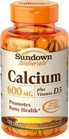 Sundown Naturals Calcium 600 plus Vitamin D3, 120 Caplets by 3M