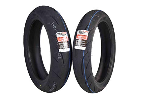 Full Bore F2 Series 120/70ZR17 Front & 140/70ZR17 Rear Radial Motorcycle Sport Bike Tire Combo Set 120/70-17 140/70-17 (120/70ZR17 Front & 140/70ZR17 - Motorcycle Combo Tire
