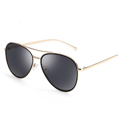 Embryform mode personnalité métal lunettes de soleil grenouille Noir B